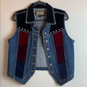 Vintage Jean Velvet Studded Vest